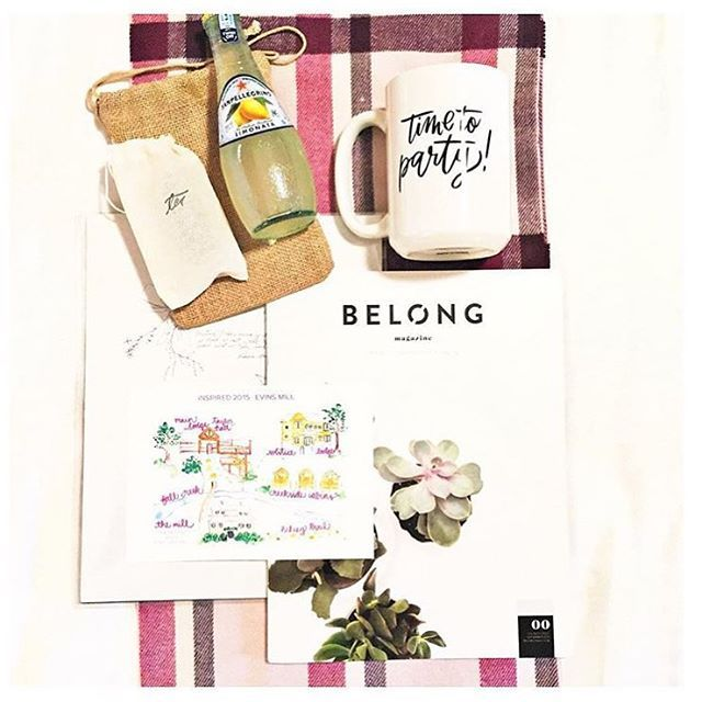 Monday deserves some swag! Thanks @heather_crabtree for sharing your goodies including the #pilotissue of #belongmag from @inspiredretreat this past weekend. Wish we could have been there. Looks amazing @amberhousley!