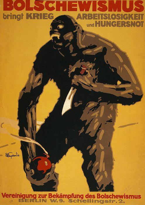 World War I Bolshevism German Poster Propaganda Art Ww1 Posters
