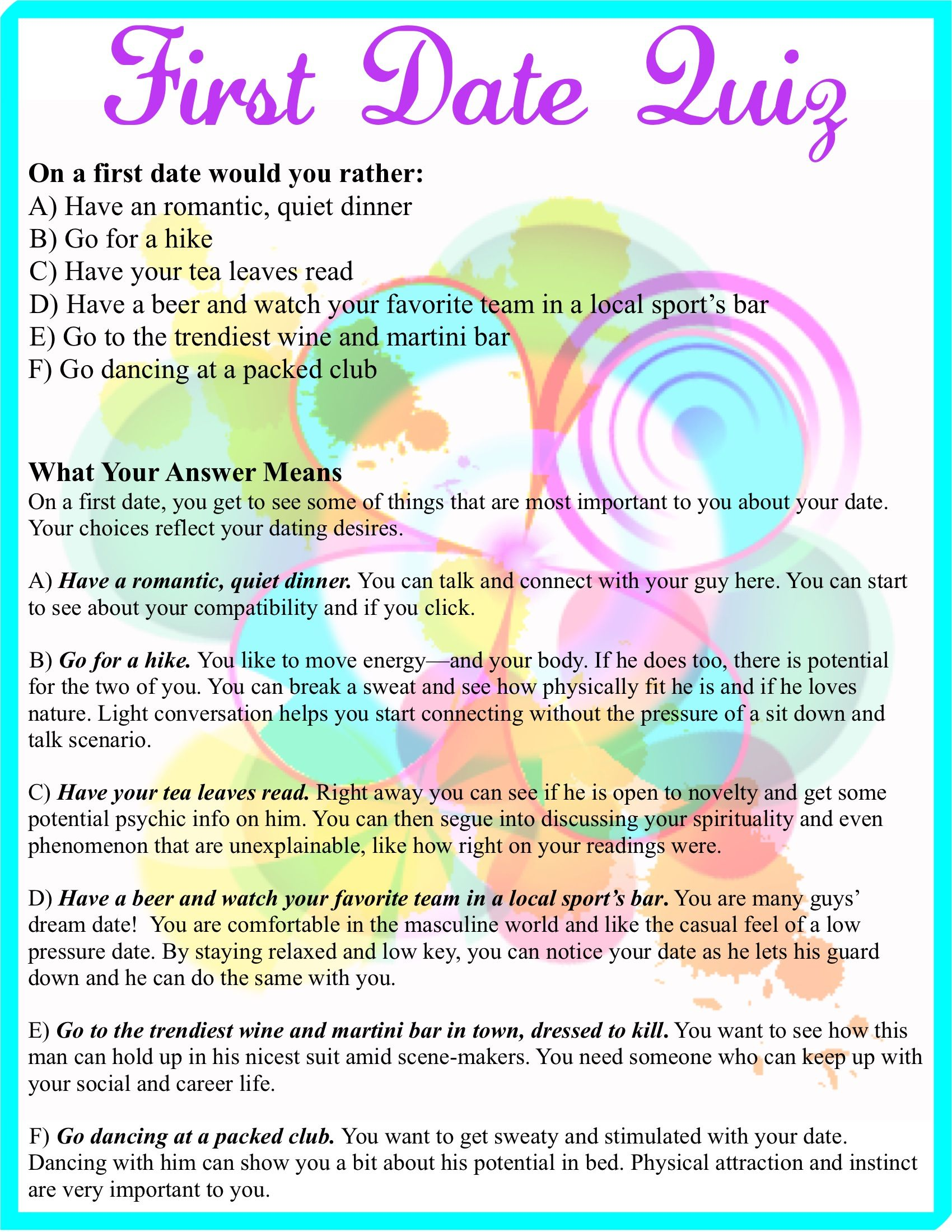 Should you start dating quiz