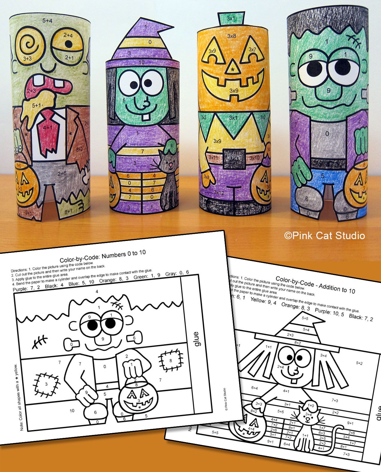 Halloween Math Color By Number Addition Amp Subtraction