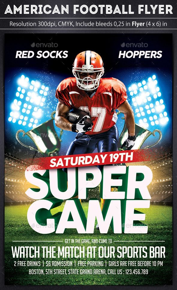 american football flyer by grapulo american football flyer great