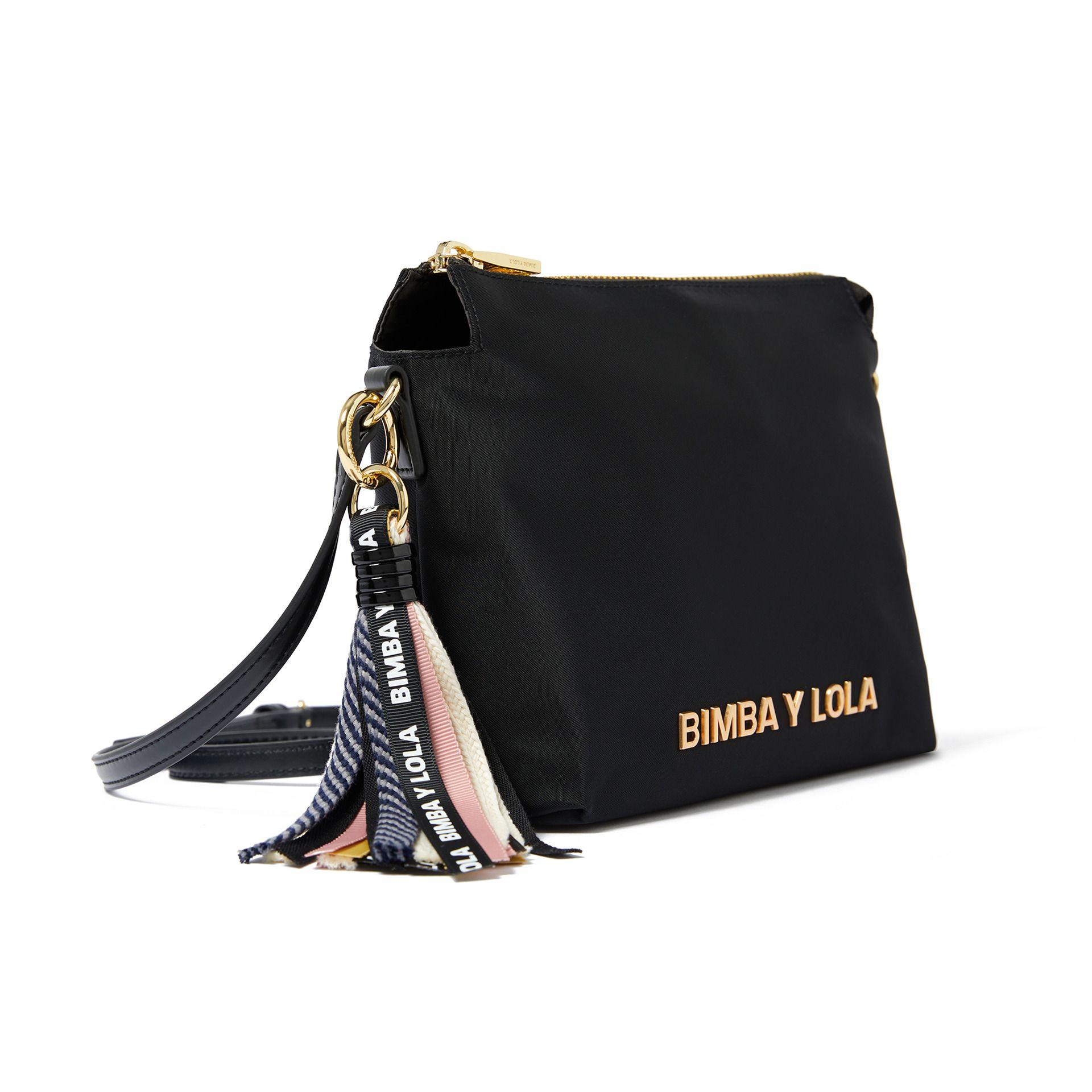 BIMBA Y LOLA CROSSBODY BAG DOUBLE ZIP BOLSA CARTERA WOMEN