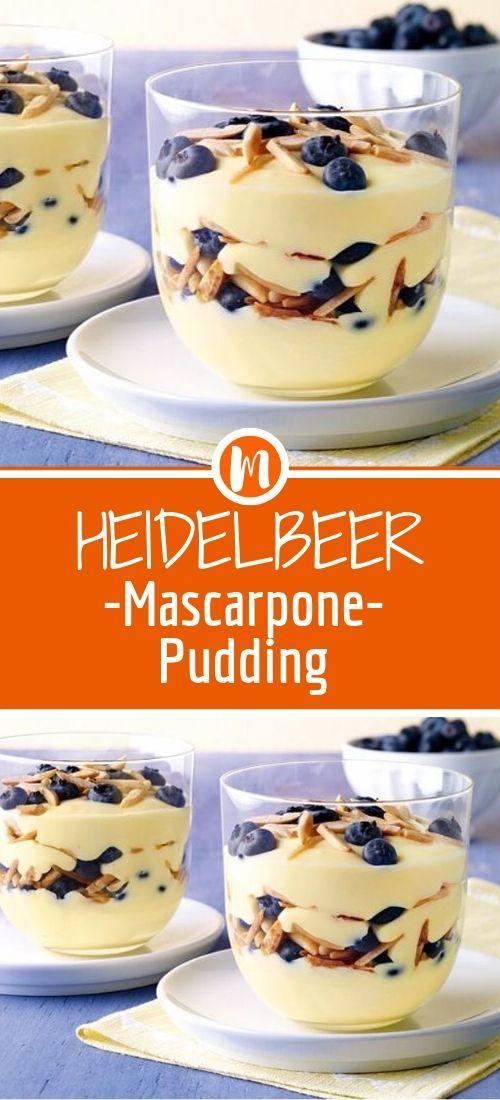 Blueberry mascarpone custard