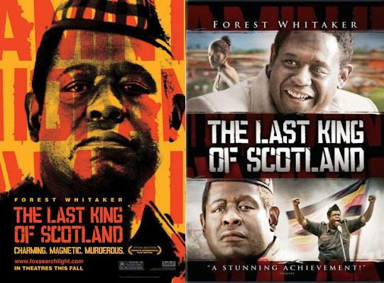 LAST KING OF SCOTLAND goes from a political-esque poster to airbrushed box art. Wait, that's not the DVD for THE BUTLER, is it? Heh heh.