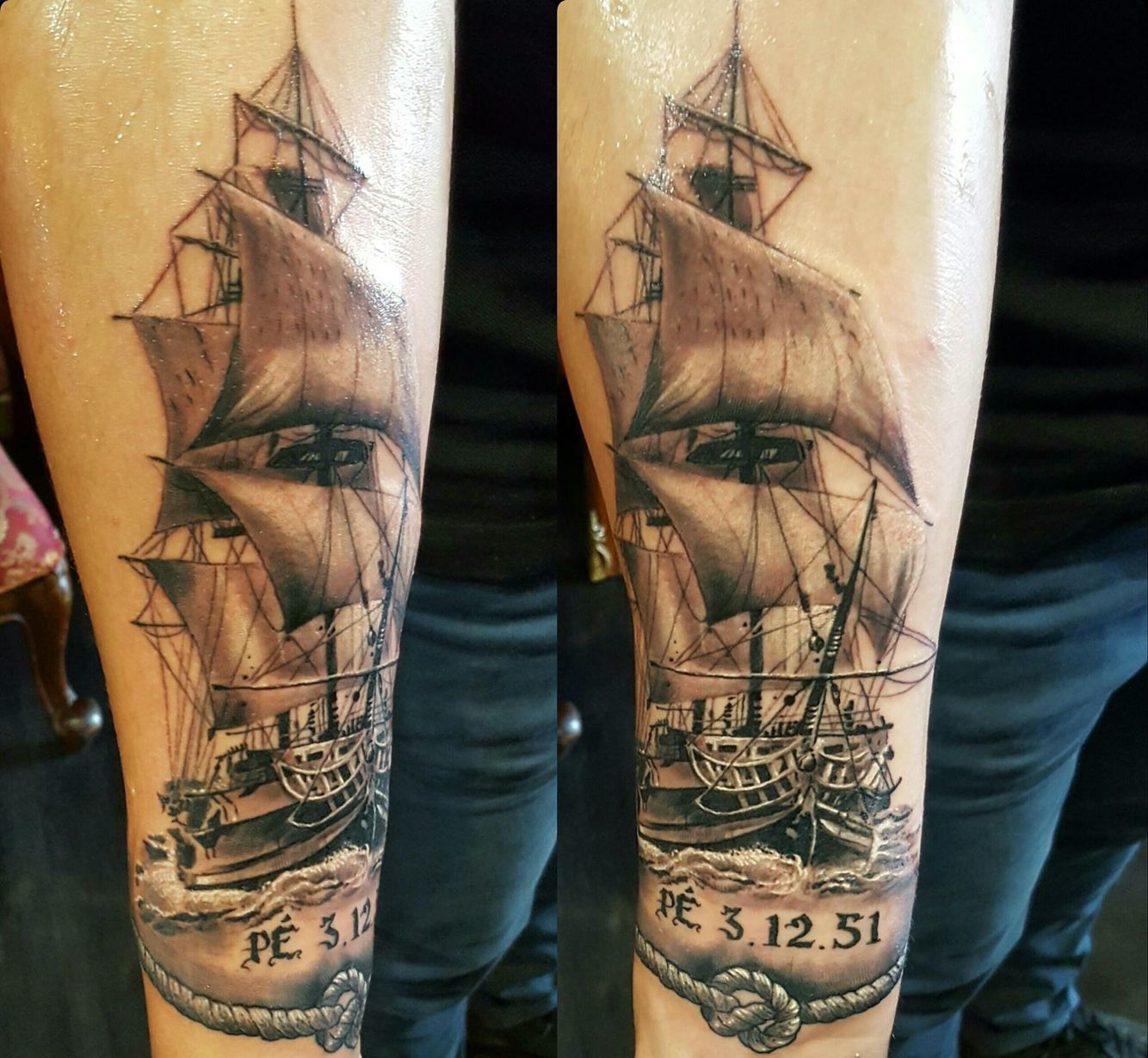 Very nice tattoo done by  Artist: Huszár Paddy Sándor  https://www.facebook.com/tattos.by.hussar/ At Nails Tattooshop in Ostend Belgium.