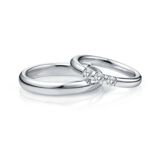 950 Platinum wedding bands with diamonds Platinum band Platinum