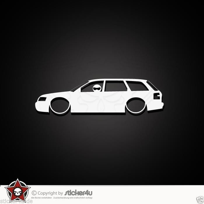 B6 RS4 for Audi A4 avant Lowered WAGON MAFIA sticker