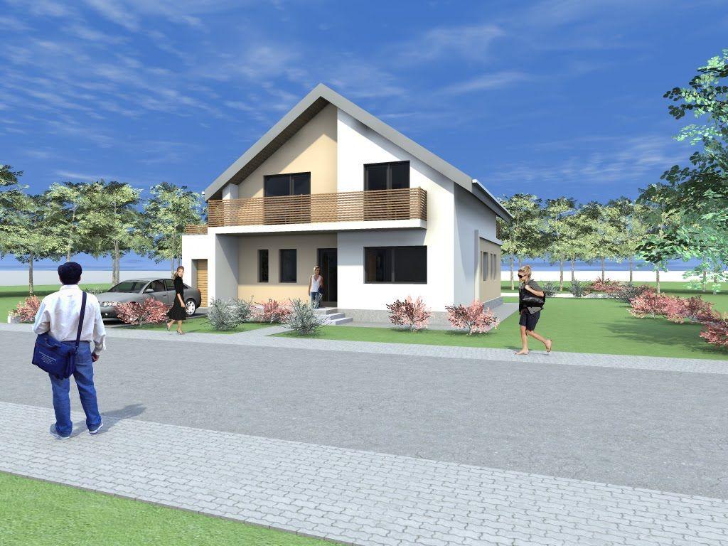 Proiecte de casa cu mansarda casa b70 magazincasa for Arhitectura case cu mansarda