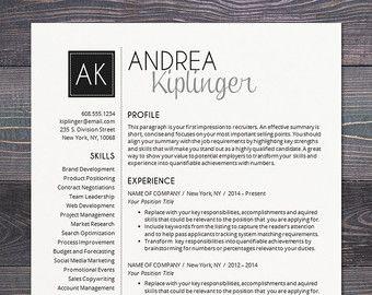 Resume Template Professional Creative Resume Instant ...
