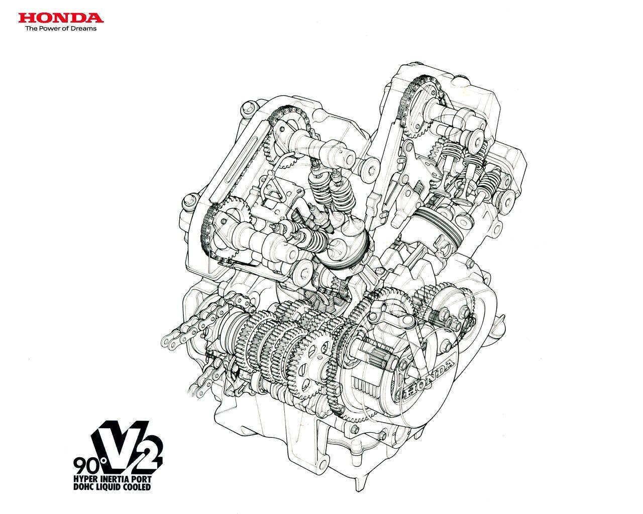 Honda Vt 250 Cutaway
