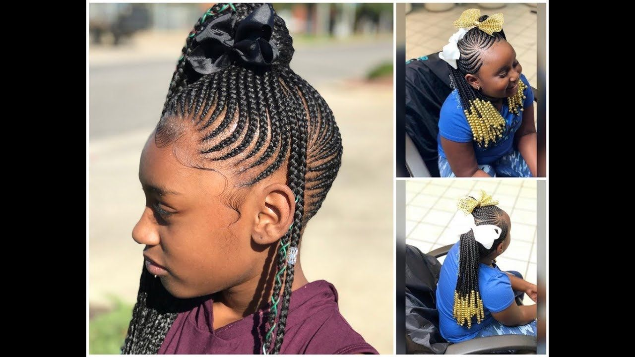 2019 kids braided cornrows hairstyles
