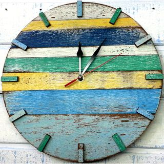 Handmade Recycled Boat Wood Beach House Clock (Thailand ...