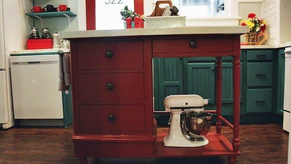 diy kitchen island from dresser. DIY Kitchen Islands: Ideas Using Common Household Furniture Diy Island From Dresser