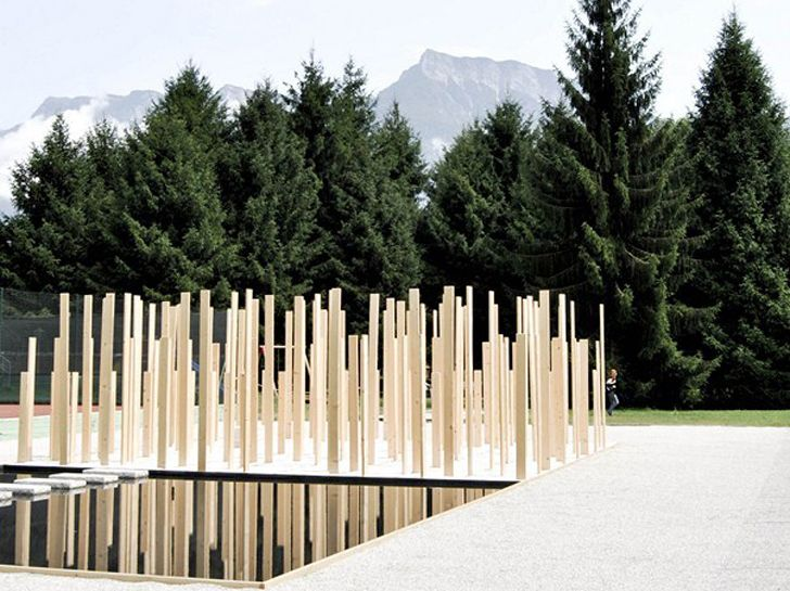 Simone bossis duecentosessanta is a serene pavilion in