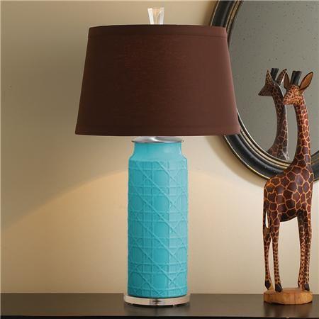 Ceramic Wicker Table Lamp Base | Turquoise,Teal & Aqua ...