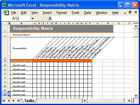 Communication Plan Template Free Microsoft | Communication Plan:  Responsibility Matrix
