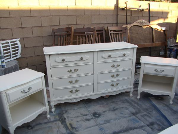 French Provincial Girls Bedroom Set   Refinished In Heirloom White