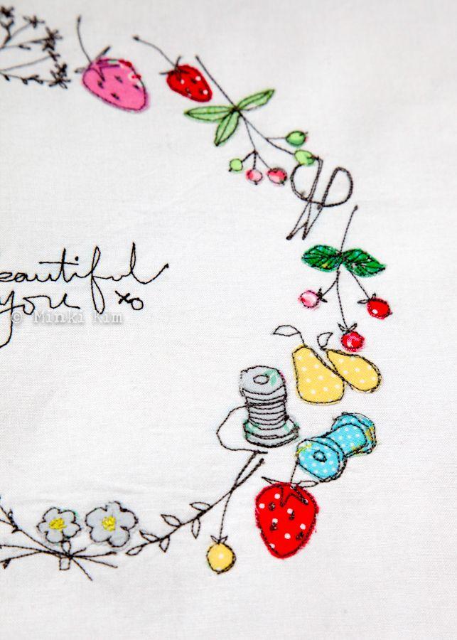 Minki\'s Work Table   Sewing Illustration   Minki\'s work table ...