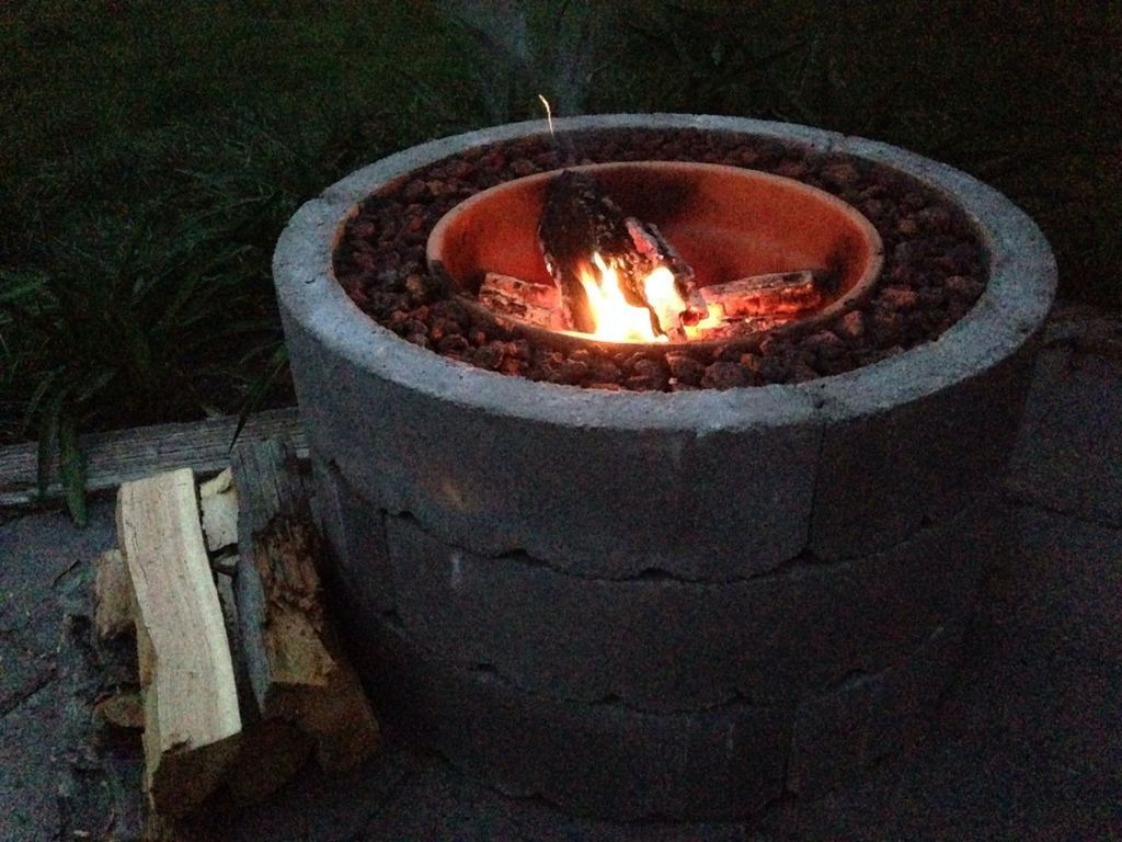 Surprising ideas fire pit bowl gardens corner fire pit water