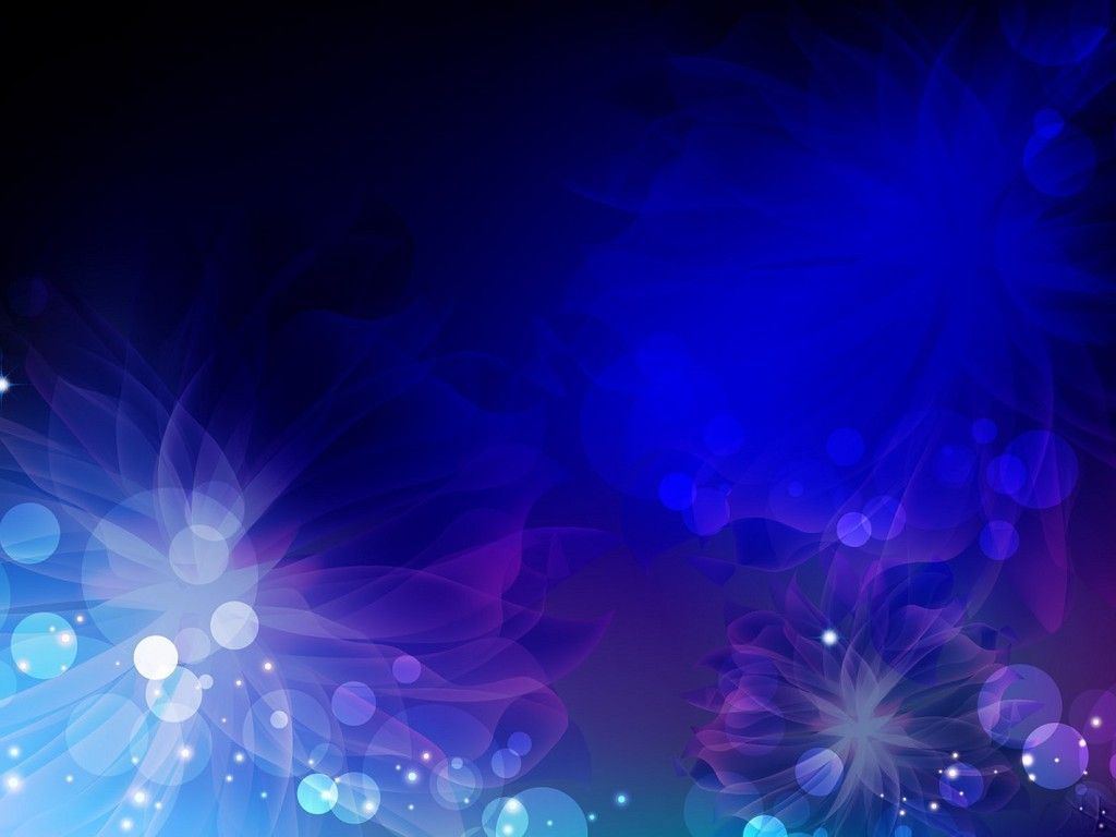 Dark Blue Floral Theme PowerPoint Blue background