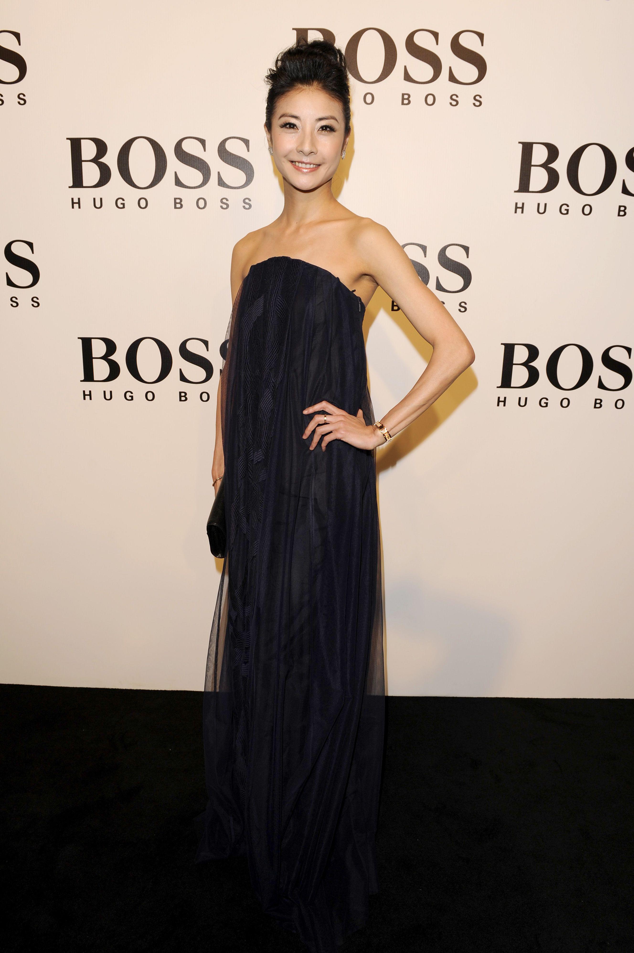 Tan Yuan Yuan in an elegant #boss evening dress #hugoboss #fashion ...