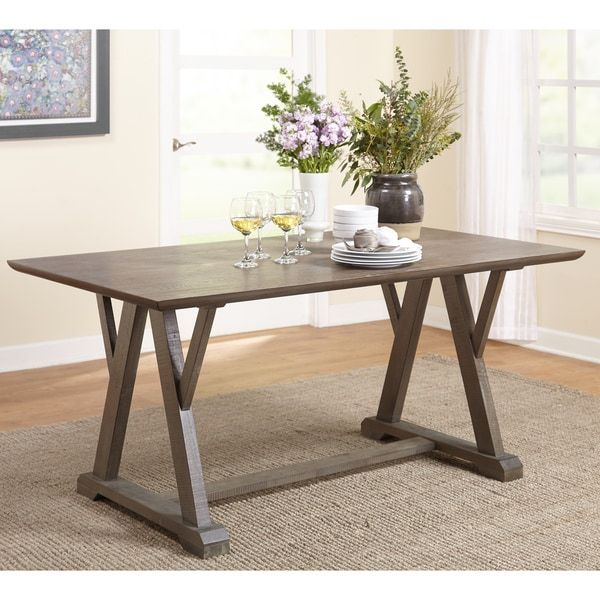 Simple Living Herabrown Dining Table 30 Inches High X 66 Wide 39 3 Deep