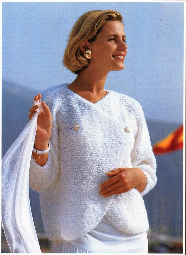 69f3508653d5 womens crossover sweater knitting pattern PDF 4ply ladies double ...