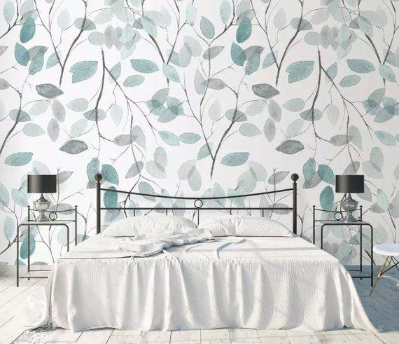 Scandinavian Abstract Leaves Wall Mural