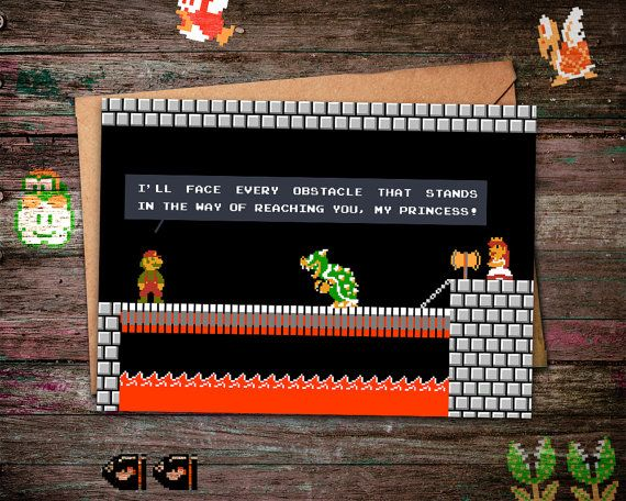 Super Mario Bros Card This is for all you geeky boys and girls – Super Mario Bros Valentine Cards