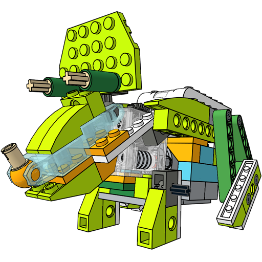 Triceratops unofficial building instruction for Lego education ...