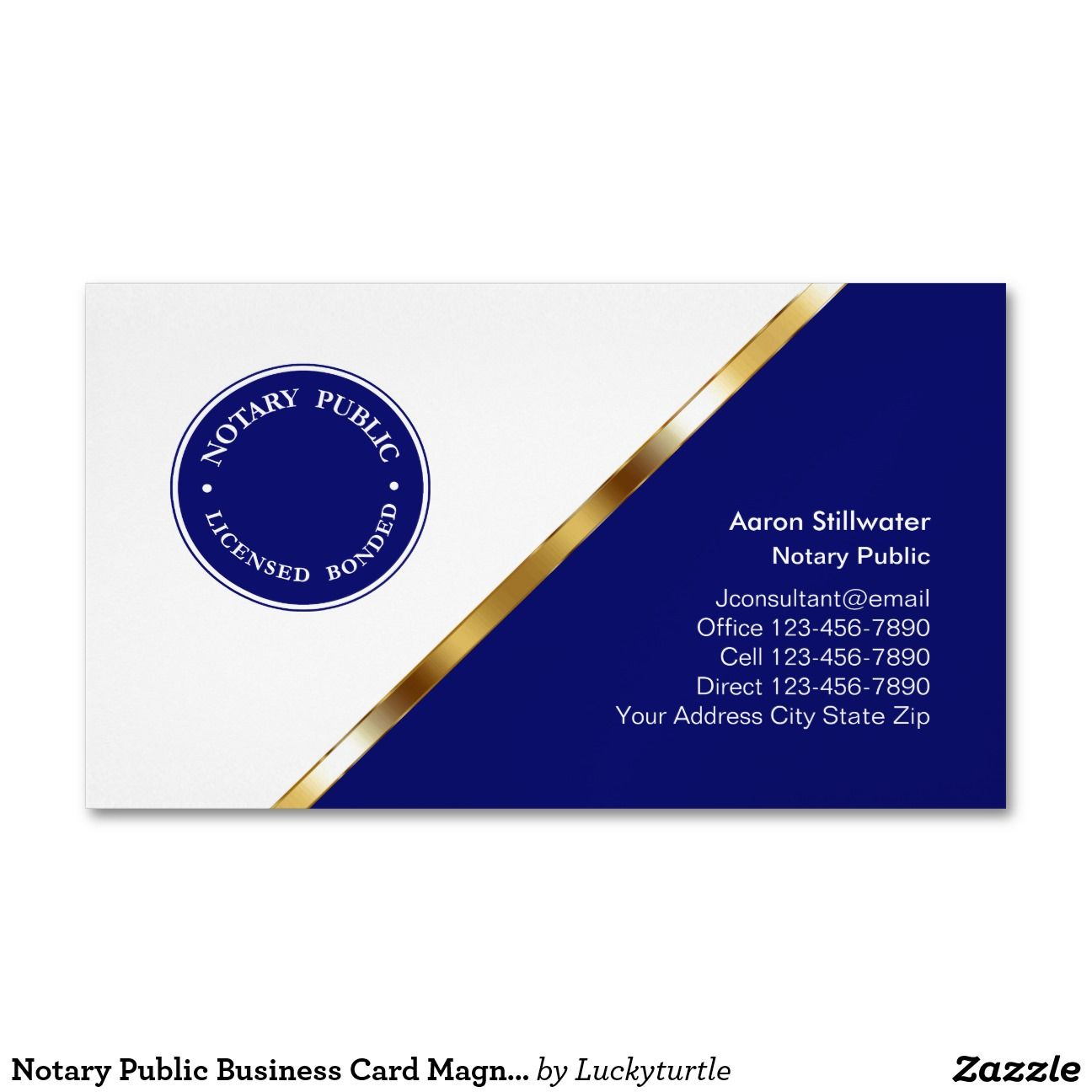 Notary Public Business Card Magnets Magnetic Business Cards ...