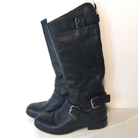 d56998b9a Dolce Vita Pebbled Leather Boots Genuine pebbled leather boots with a back  zipper entry and double