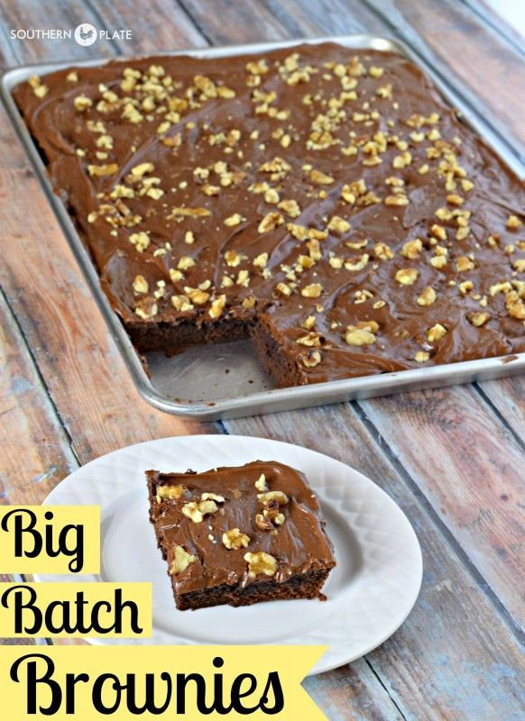Big Batch Brownies Fudgey And Deeply Chocolate These Brownies