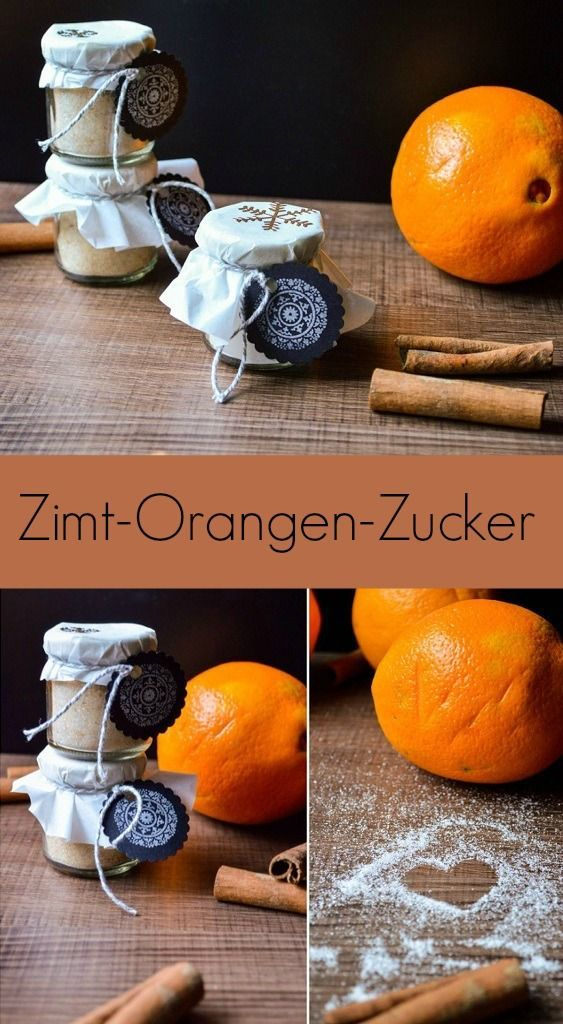 Weihnachtlicher Zimt-Orangen-Zucker - The inspiring life