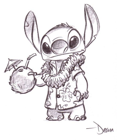 Si a daniela le gusta stitch tattoos pinterest for Art drawing ideas for adults