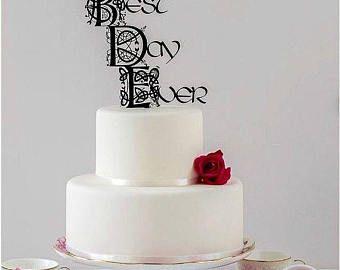 Gold Celtic Wedding Cake Topper, Irish Wedding, Love Cake Topper ...