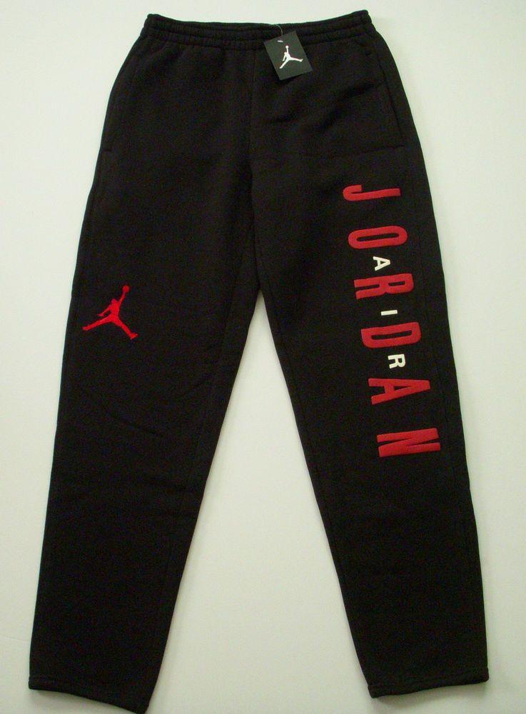 jordan sweatpants black and red Sale