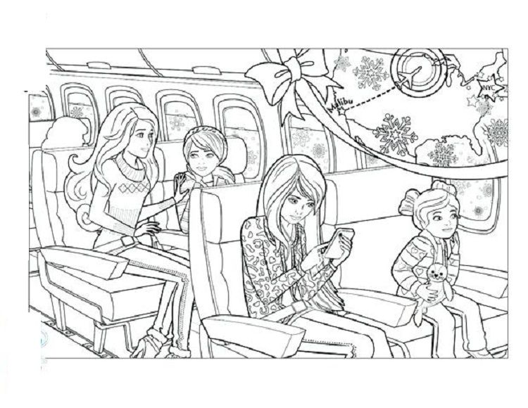 Barbie Skipper Coloring Pages With Images Barbie Coloring