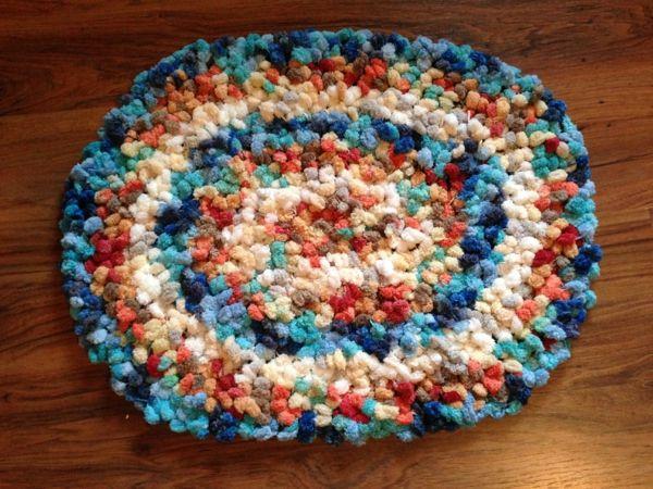 Diy Wohnideen Teppich Selbst Gestalten Runde Teppiche