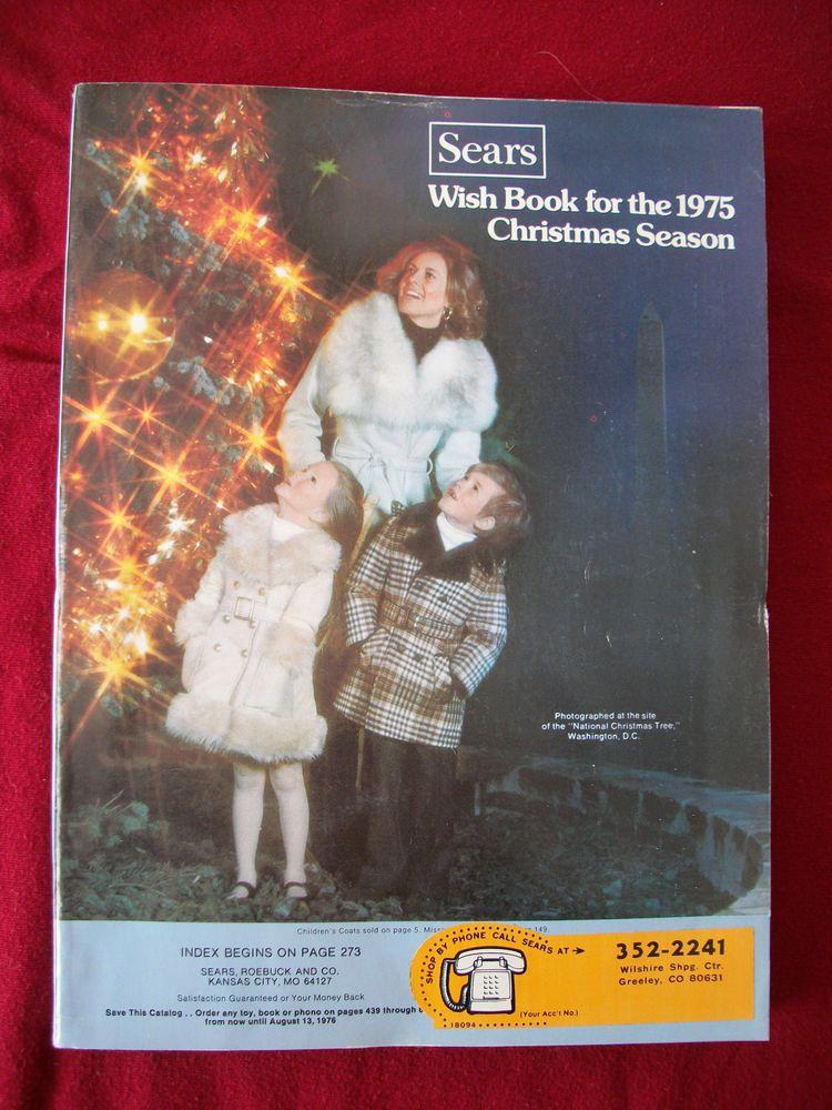 Vintage Sears Catalog 1975 Wish Book Christmas - Silvertone Teisco Guitars