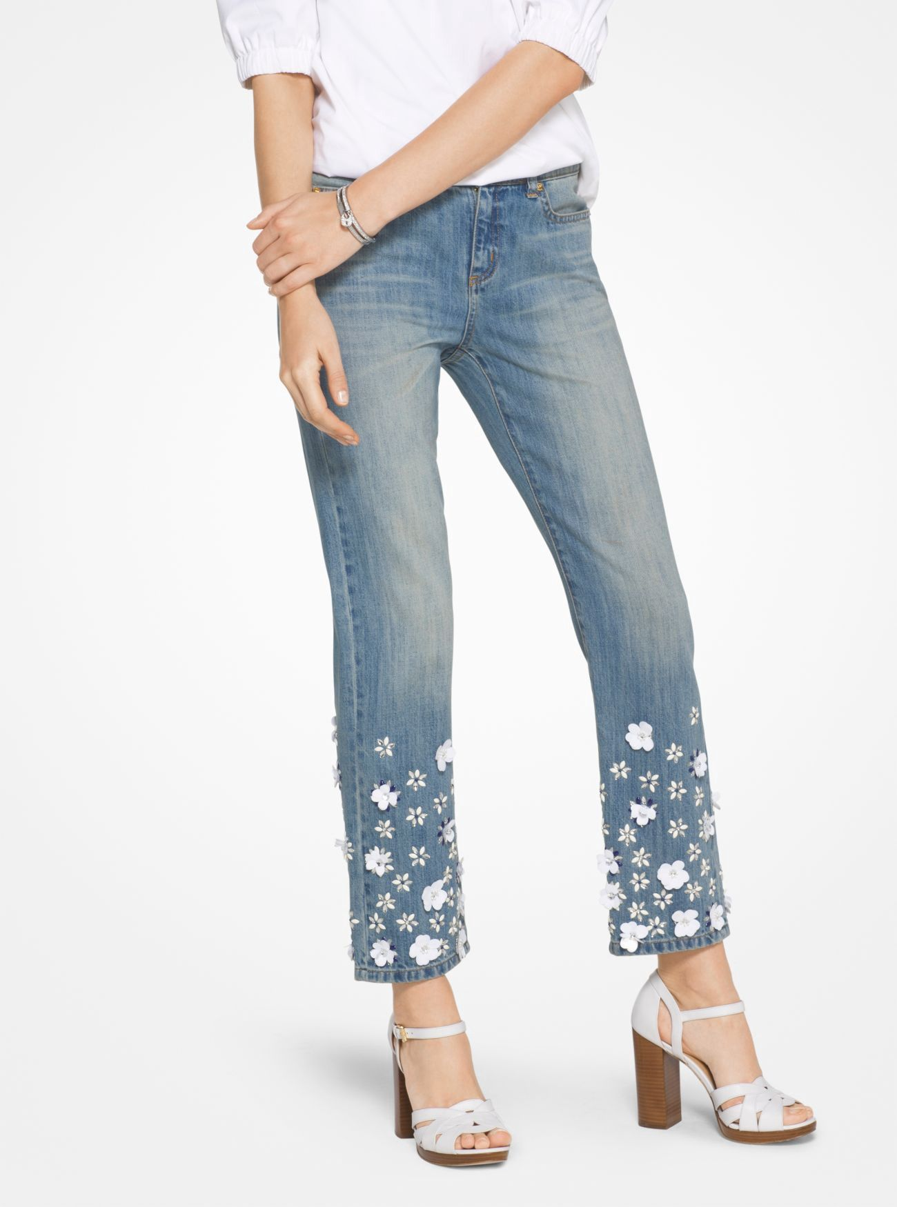 fc528f09aed8e MICHAEL KORS Floral Sequined Jeans. #michaelkors #cloth #all ...