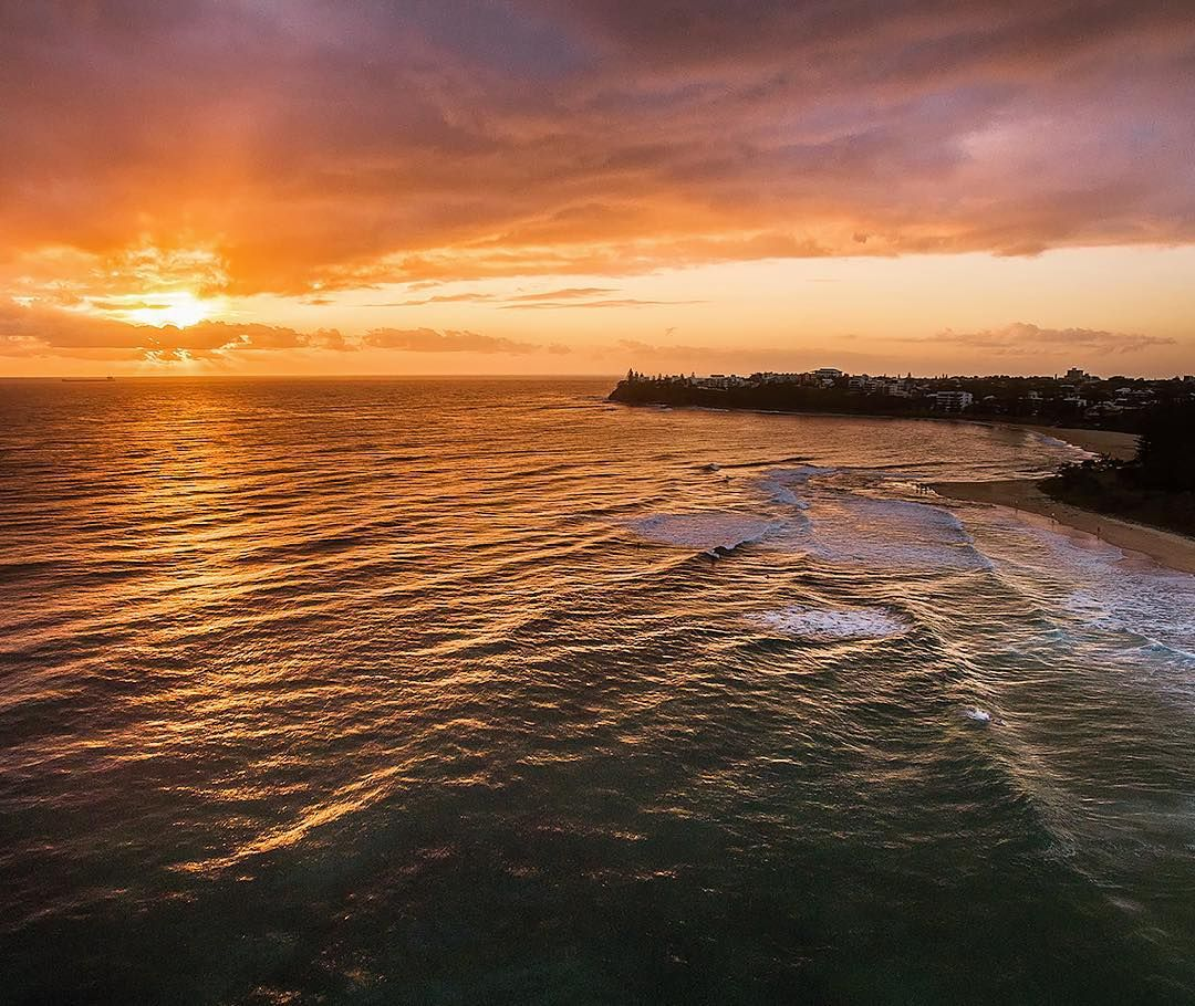 South Pacific Beaches: Sunrise Over The South Pacific Ocean More Specifically