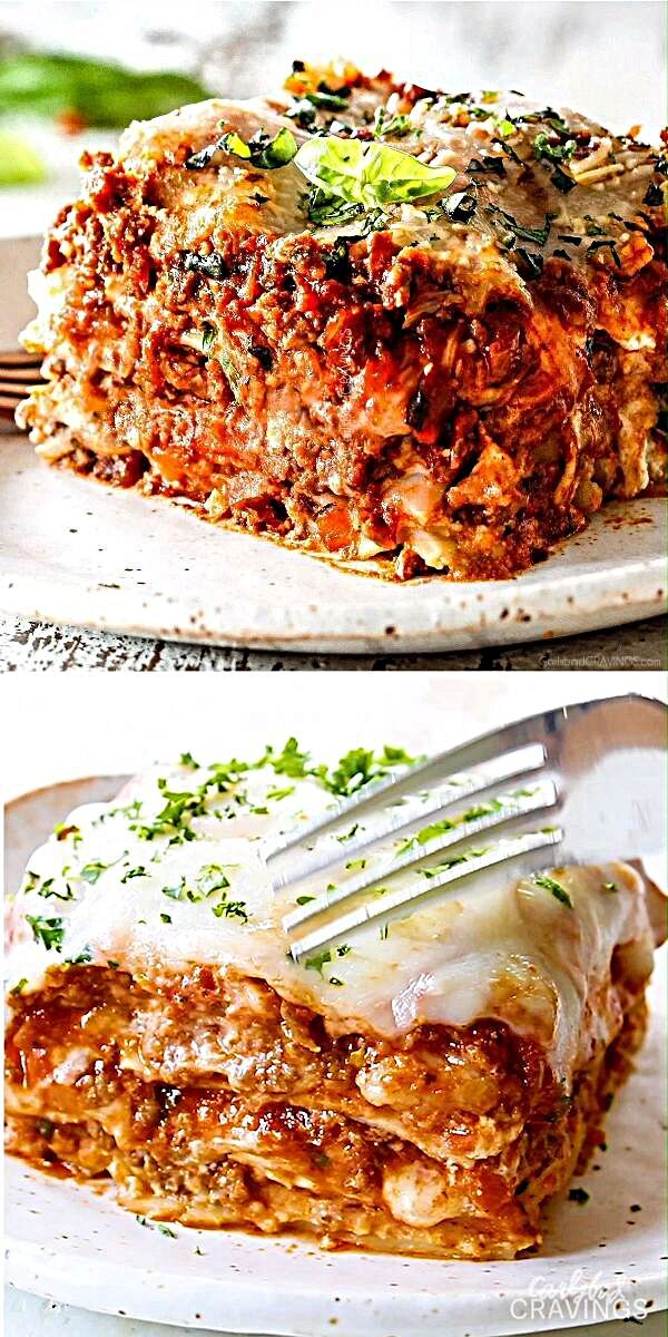 I will never make another lasagna recipe again - this is seriously the BEST lasagna ever! Each and every bite is hot, meaty, cheesy, saucy perfection. There's also detailed instructions on how to MAKE AHEAD and HOW TO FREEZE.  #lasagna #Italianrecipes #bestlasagna #meatlasagna #classiclasagna #homemadelasagna #Italianfood #dinnerrecipes #dinner #recipes #recipeoftheday #recipeideas #recipeseasy #recipesfordinner  #dinnerideas #dinnertime #beef #tomatoes #parmesan #mozarella #pasta #pastarecipes