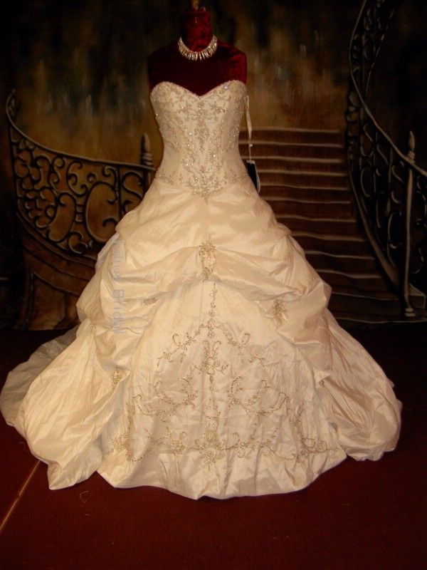 a15d0a219b7d White and Gold Wedding. Sweetheart Corset Ballgown Dress. Maggie Sottero  Monalisa Royale Wedding Dress  730