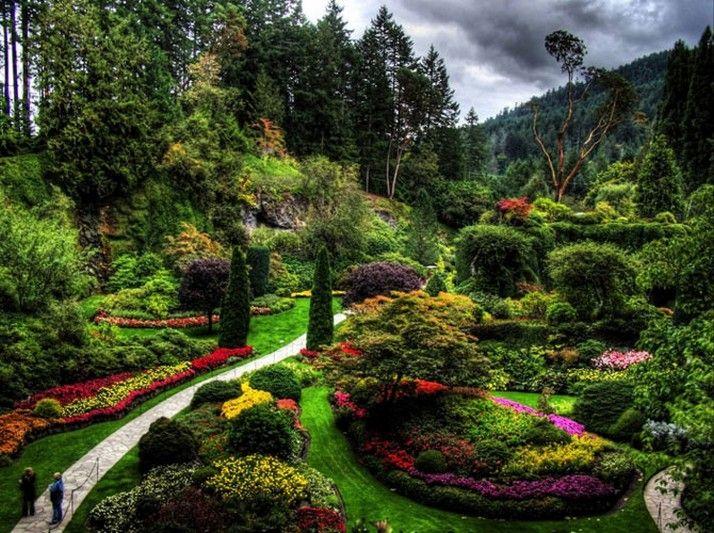 Butchart Garden Canada Gardens Pinterest Gardens Beautiful