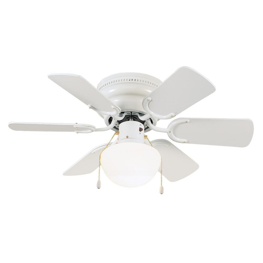 Design House Atrium 30 5 In White Hugger Lighted Ceiling Fan Ceiling Fan Hugger Ceiling Fan Ceiling Fan With Light