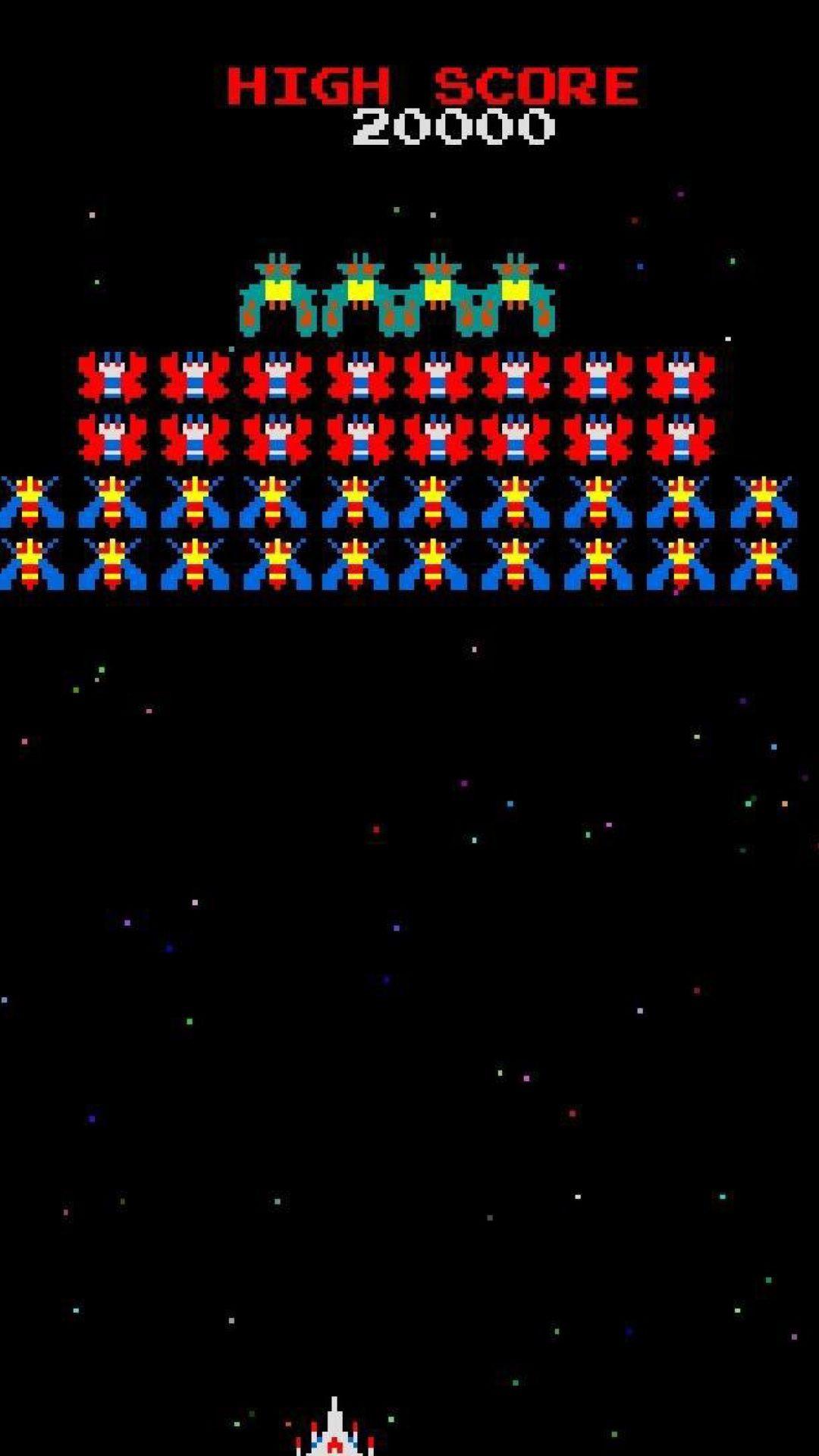 Galaxian Galaga Nintendo Arcade Game wallpaper 1080x1920
