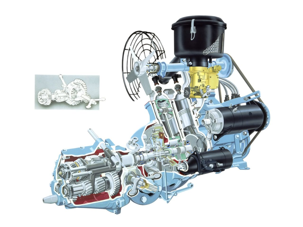 Saab later converted to 4 cylinder 4-stroke, and the last 3