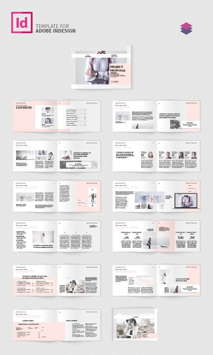 Download Project Proposal Landscape Indesign Layout Booklet Layout Graphic Design Brochure