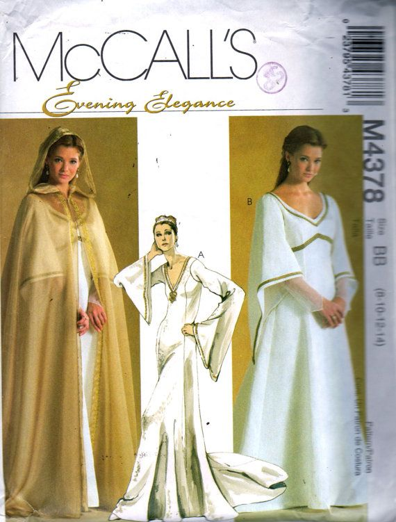 McCalls 4378 Renaissance Fair Costume Pattern Misses Dress and ...